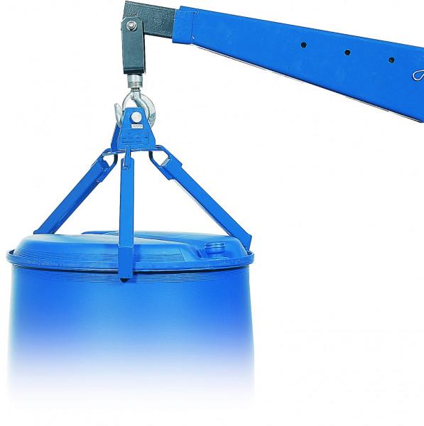 Fassgreifer vertikal, 350 kg Traglast, Stahl lackiert