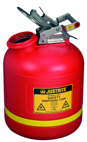 Sicherheits-Sammelbehälter Polyethylen Rot, Inhalt: 19 Liter, Polyethylen