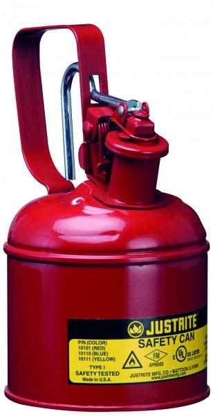 Sicherheitsbehälter Stahlblech pulverbeschichtet Rot, Inhalt: 1 Liter, Stahlblech pulverbeschichtet glatt