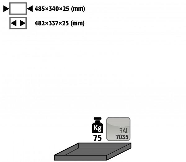 Fachboden Standard für Modell(e): G30 mit Breite 600 mm, Stahlblech pulverbeschichtet glatt