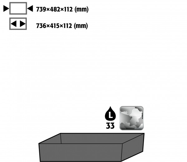 Bodenauffangwanne STAWA-R (Volumen: 33,00 Liter) für Modell(e): CS mit Breite 810 mm, Stahlblech verzinkt