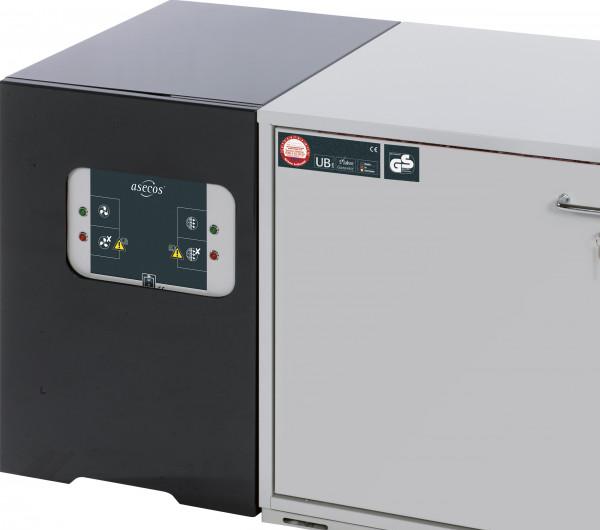 Adapter als separate Gehäuseeinheit für Umluftfiltermodul Modell UFA.20.30-AUS, Stahlblech pulverbeschichtet glatt