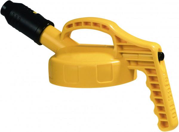 Deckel mit kurzer Auslauftülle HDPe Gelb, für Ölkanne Auslauf: Ø 2,5