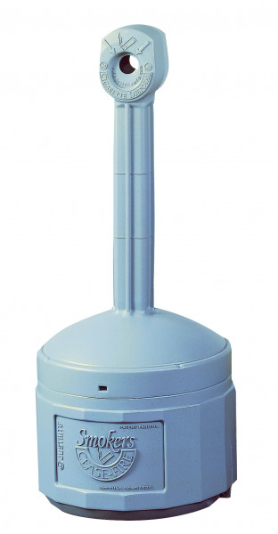 Standascher aus Polyethylen, grau, Inhalt: 15 Liter, Polyethylen