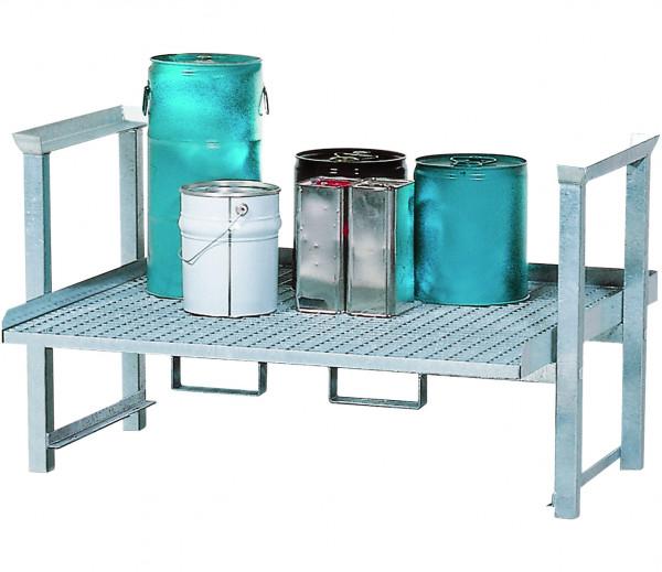 Aufbauregal Lagerebene Kleingebinde 1340x1120x790, Stahl verzinkt