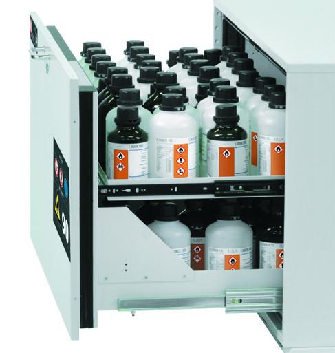 2. Auszugsebene (Volumen: 3,00 Liter) für Modell(e): UB90 mit Breite 590 mm, Edelstahl 1.4301 roh