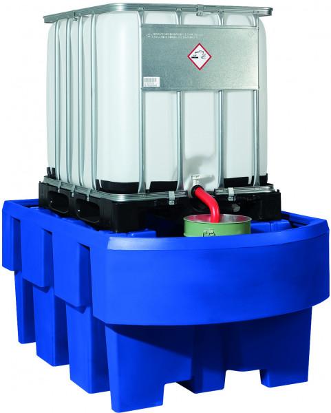 IBC-Station unterfahrbar PE mit Abfüllbereich 1280x1910x860, Polyethylen