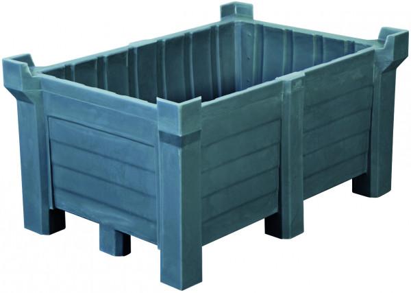 Stapelbehälter PE Grau geschlossen, 260 L, 800x600x1000, Polyethylen