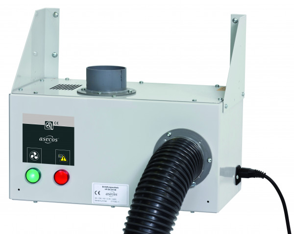 Entlüftungsmodul Modell HF.EA.17448. für Hochschränke zur Wandmontage mit Abluftüberwachung inkl. potentialfreiem Alarmkontakt, Stahlblech pulverbeschichtet glatt